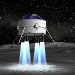 Simulation einer Mondfähre bei der Landung